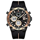 GOLDEN HOUR Military Tactical Watches for Men, Mens Outdoor Sport Heavy Duty Large