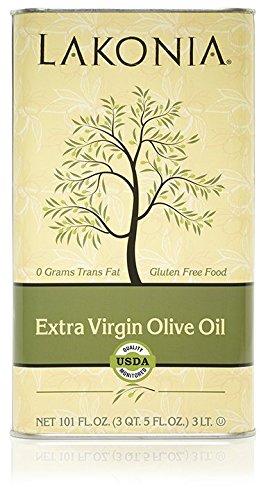 Lakonia Extra Virgin Olive Oil 101.4 Oz (4 Pack)