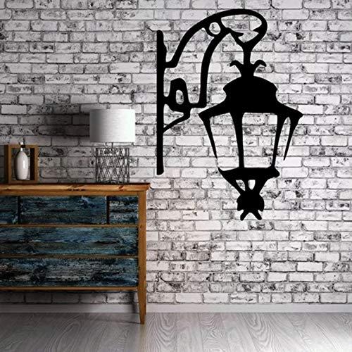 yaofale Vinyl Aufkleber Wandaufkleber Antike Laterne Straßenlaterne Symbol des Lichts Moderne Wohnkultur für Wohnzimmer Restaurant Wandbild