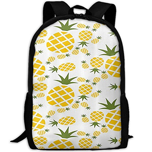 Nuevo Pictograma de piña Decorativo Impresión 3D Mochila College School Laptop Bag Daypack Bolsa de Viaje para Unisex