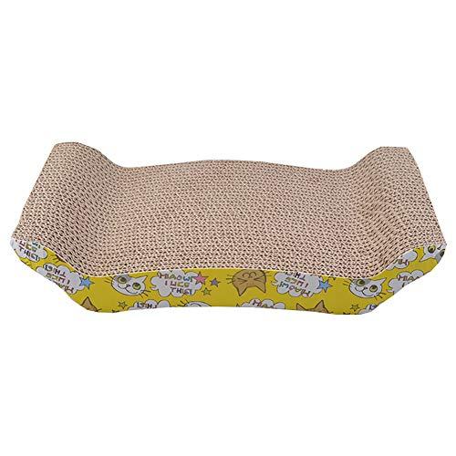 Sklepee Rascador Corrugado para Gatos para Mascotas, 41 * 20.5CM Tablero antiarañazos Cartón Protege los Muebles de tu casa Almohadilla para raspar y salón de Gatitos para Mascotas pequeña