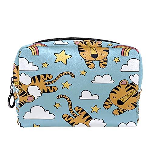 Tiger Design 18.5x7.5x13cm bolsa de maquillaje bolsa monedero organizador cosmético bolsa bolsa de maquillaje bolsa monedero
