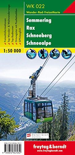 Freytag Berndt Wanderkarten, WK 022, Semmering - Rax - Schneeberg - Schneealpe 1:50.000
