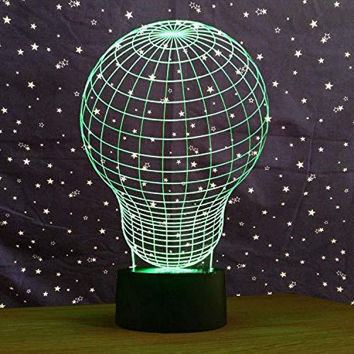 Luz Nocturna 3D Globo Aerostático Lámpara De Óptico Ilusión De LVYONG Con Control Remoto 16 Cambio De Color Luces Led Usb De Táctil Para El Hogar Decoración Mejor Regalo Para Niños.