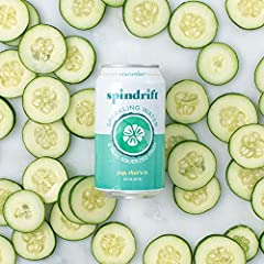 Pack contains 24 cans of Spindrift Cucumber Flavored Sparkling Water (12 fluid ounces per can) Containing 5% fruit juice and only 2 calories per can Unsweetened, no added sugar, gluten-free, non-GMO, kosher, BPA-free cans, never from concentrate Ligh...