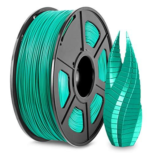 Filamento PLA per Stampante 3D 1,75, Filamento PLA Verde Erba SUNLU 1,75 mm, Stampante 3D FDM Adatta, Bobina da 1 kg, Precisione Dimensionale +/- 0,02 mm, PLA Verde Erba