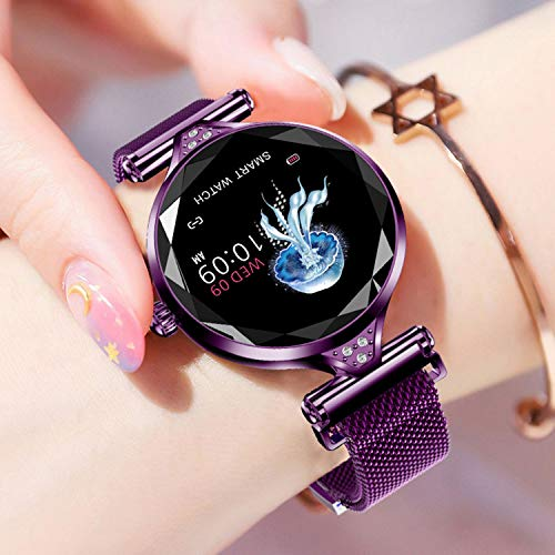 Newest Smart Watch for Women, Heart Rate Blood Pressure Fitness Tracker Best Women Gifts for Birthday Christmas Girl Blue-Tooth Smart Wristband Compatible for iPhone Android