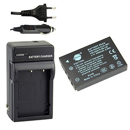 DSTE Repuesto Batería y DC29E Viaje Cargador kit para KODAK KLIC-5001 EcomoyShare P880 Z730 Z7590 Z760 DX6490 Z760 Zoom DX7440 Zoom DX7590 Zoom DX7630 Z7590 Zoom P850 DX7440 Z730