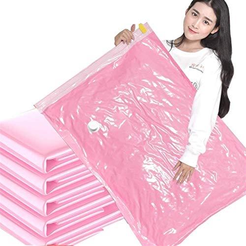 Storage Bag Bolsa de compresión al vacío, extra grande (100 x 80 cm) con bomba de edredón y chaqueta hermosa (color: (Xl* 4 M* 4) 8 piezas)