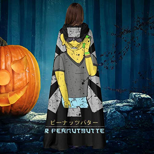 OJIPASD Mr Peanutbutter Retro japons Bojack Horseman Unisex Navidad Halloween Bruja Caballero con Capucha Albornoz Vampiros Capa Capa Cosplay Disfraz