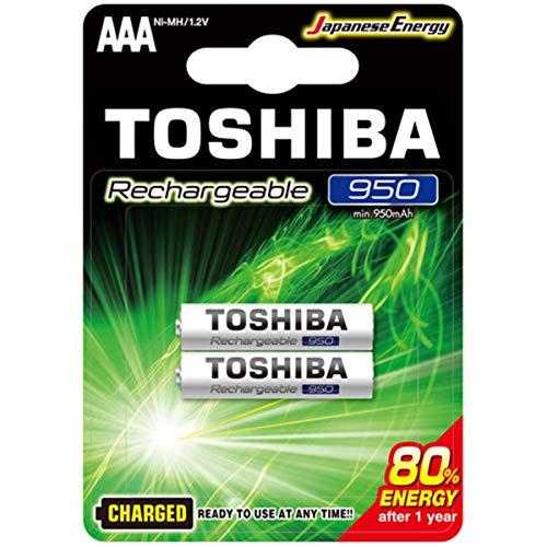 Pilha Recarregável AAA 1,2V 950mAh TNH3GAE TOSHIBA (Cartela com 2 unid.)
