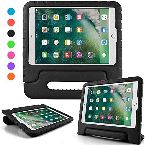iPad 2018 ケース アイパッド 2017 9.7 ipad air2 ipad air ケース キッズ 超軽量 耐衝撃 スタンド ハンドル付き EVA 保護 新型 Apple iPad 9.7 2017 適応 カバー (ブラック)