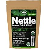 Nettle Tea - 8Oz (REAL WILD HARVEST) | 100% USDA Certified ORGANIC | Loose Leaf Nettle Tea (Urtica Dioica aka Stinging Nettle) Cut & Sifted