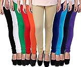 Zakod Latest Cotton Leggings for Women, Free Size Leggings (Pack of 10)