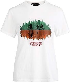Hitchlike ストレンジャー・シングス 未知の世界 メンズ半袖 レディース tシャツ STRANGER THINGS カジュアル 半袖シャツ ファッション プリントブラウス トップス オリジナルプリント カットソー