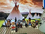 LEGO Native American Indian Village Minifigures lot. Not a Boxed Set.