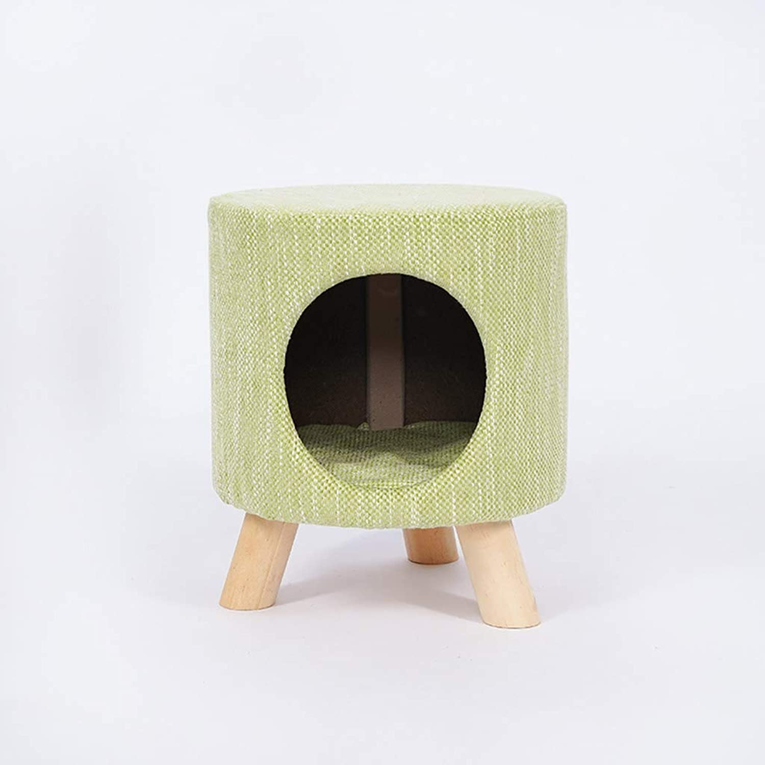 Felt Cat Stool House  Cat Bed  Stylish and Contemporary (color   Green, Size   L)