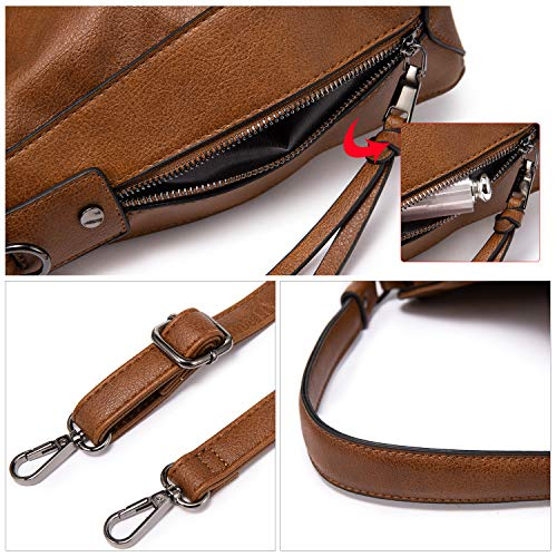 Handbags for Women Small Designer Ladies Hobo bag Bucket Purse Faux Leather