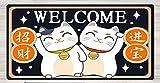 JIACHOZI 1000 × 500 × 3 mm Lindo gato suerte tesoro gaming teclado raton alfombrilla Alfombrilla Gaming Extra Grande Base de Goma Antideslizante y Superficie Suave Resistente al Agua para Gamers, PC y