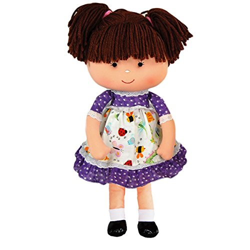 "Anico Well Made Play Doll for Children Libby Doll, 18"" Tall, Lavender"