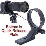 iShoot CNC航空アルミニウムのレンズサポート襟、三脚マウントリング、リング式三脚座, Nikon AF-S 200-500mm f/5.6E ED AF-S VR Zoom NIKKOR Lens(ニコン20058 望遠ズームレンズ)のために特別に設計, ARCA-SWISSタイプのクイックリリースプレート付き, ARCA-SWISS KIRK BENROタイプの雲台 ボールヘッド 対応
