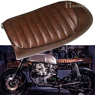 FidgetGear New Motorcycle Brown Flat Brat Style Tracker Cafe Racer Seat for Honda CB CG 125
