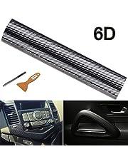 NewL 6D Carbonstofvezelsticker voor in de auto, hoogglanzend, koolstofvezel, vinylfolie, carInterieur, waterdicht en antikraken, 30cm x 300cm 30cm x 300cm
