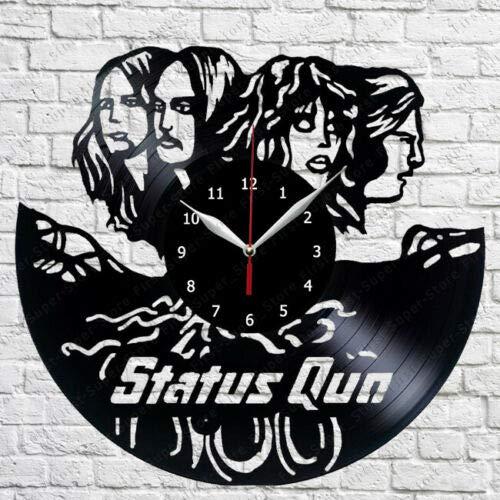 Status Quo muzyka płyta winylowa zegar ścienny wachlarz sztuka wystrój domu vintage sztuka ścienna design