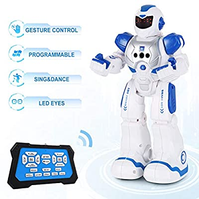 SGILE RC Robot Toy, Programmable Smart Infrared Sensing Robot for Kids Birthday Gift Present from SGILE