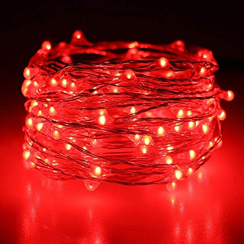 MIAOGO LED Fairy Net Lights, Halloween Festival Decorations Red Curtain Lights 8 Modes Outdoor String Lights Party Gazebo Christmas Net Lights (Size : 3 * 2m (9.8ft x 6.6ft))
