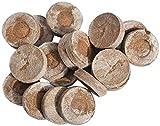 Verdelif Gránulos de Arranque de Coco, 100x Gránulos de Arranque de Planta de Coco con nutrientes, Medios de Cultivo de Fibra de Coco Natural, Uso de gránulos de Suelo comprimido envueltos