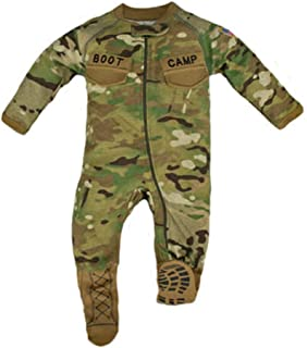 TC Multicam Baby Boys Camo Crawler with Boot Camp Boots