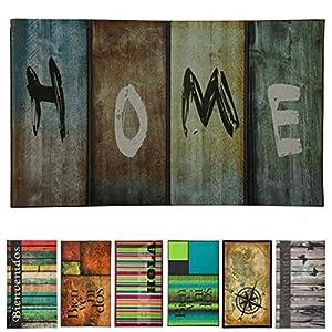 LucaHome - Felpudo Entrada casa de Goma-Flocada 45x75cm Arizona Base Antideslizante, Felpudo Premium, fácil Limpieza, Felpudo Absorbente Acolchado, Fepudo para Exterior e Interior (Home)