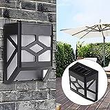 XUJJA Lampe solaire extérieure de jardin de lumière de paysage de chemin de jardin de lumière de bâti de mur de LED XUJJA
