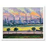 Regoyos Blast Furnaces In Bilbao Painting Art Print Framed