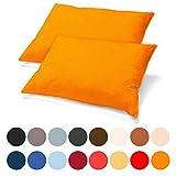 aqua-textil Classic Line Kissenbezug 40 x 80 cm orange Baumwolle Kissen Bezug Reißverschluss Jersey...