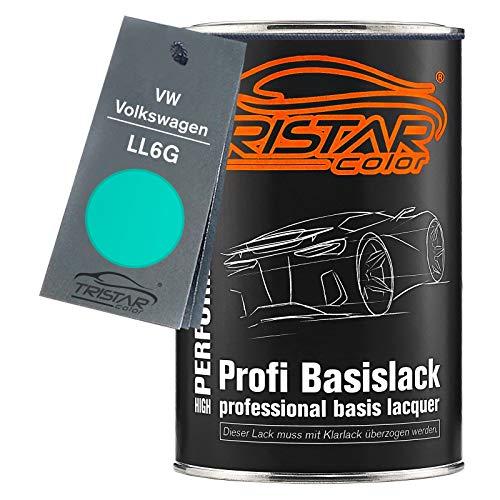 TRISTARcolor Autolack Dose spritzfertig für VW/Volkswagen LL6G Türkis/Turkis Basislack 1,0 Liter 1000ml