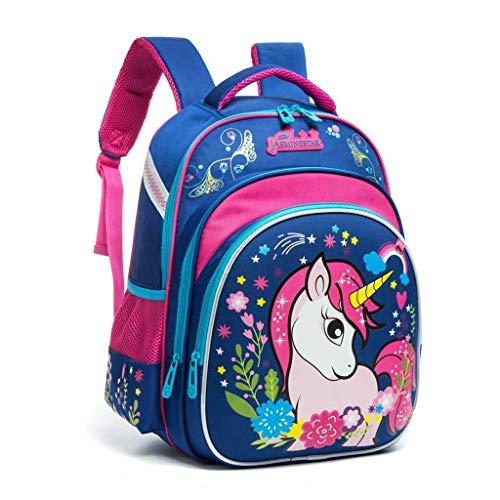Zaino Unicorno Ragazze, Zaini Scuola Elementare Bambina Impermeabile Corazza Dura Riflessione Notturna Sacchetti Scuola Ideale per Bambini Studenti di 7-12 anni per Scuola Viaggi all'aperto