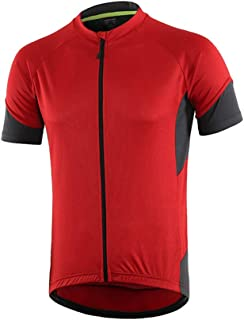 Dooy Men's Cycling Bike Jersey Long/Short Sleeve Bike Shirt with 3+1 Rear Pockets, Breathable Quick Dry Biking Jersey