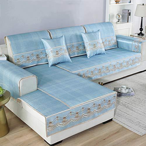 RSdfjLfjd 3D Jacquard Cubierta De Couch,Panal Cubre Sofá,para Perros Gatos Apoyabrazos Cubierta del Respaldo Protector para Sofás,Vendido por 1 Pieza Azul 100x160cm(39x63inch)