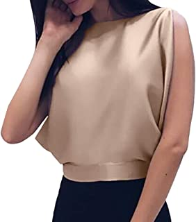 iLUGU Sexy Women Backless Bow Knitted Hat Bandage Sleeveless Top Casual Cami Vest Crewneck Tank Blouse