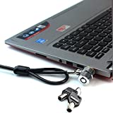 Ruban notebook Lock and Security cable (PC/laptop) due chiavi 1,9 m (nero)
