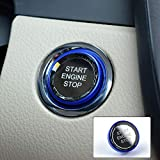 AIRSPEED Car Crystal Start Button Cover Transparent Engine Start Stop Switch Replacement Compatible with LEXUS ES NX RX, Toyota 86 Corolla Camry Crown Rav4 Subaru BRZ Accessories (Blue)