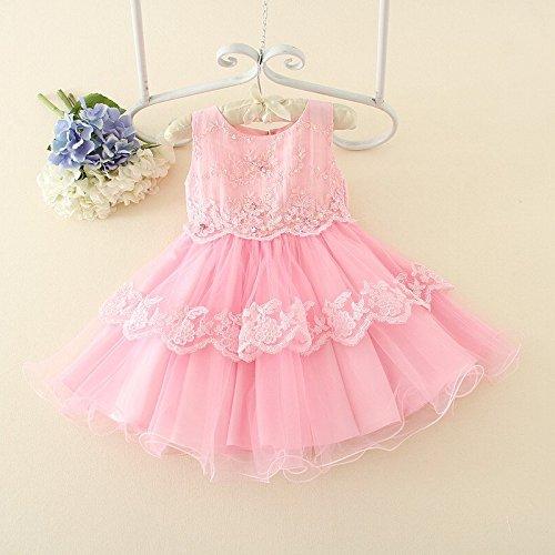 QTONGZHUANG Puff Princess Dress_Vestido de Boda Infantil Sweet Princess Lace Puff Princess...