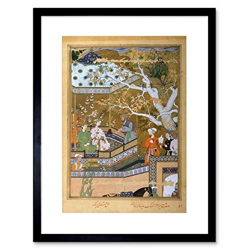 The Art Stop Painting Group Portrait BAHADUR Khan MUGHAL Emissary India Framed Print B12X7350