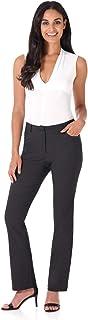 REKUCCI Women's Iconic Stretch 5 Pocket Straight Leg Pant w/Zipper Closure 6 Dk Charcoal