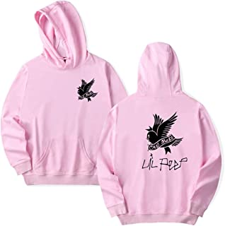 Unisex Fashion Sweatshirt Lil Peep Hoodie Cozy Sport Round Collar Hooded Pink XXL
