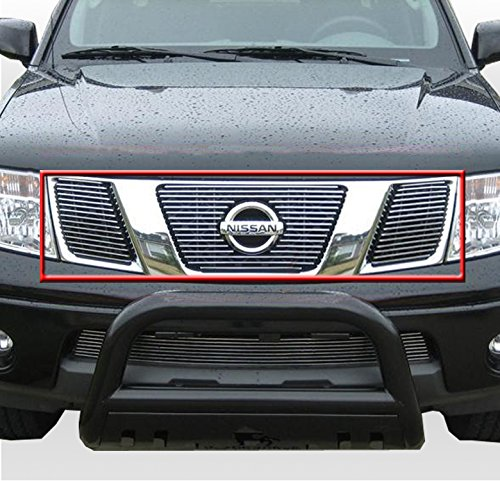 APS Compatible with 2007-2009 Saturn Outlook Black Billet Grille Grill Insert S18-H61678S