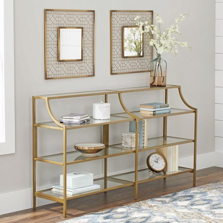 Better Homes and Gardens Versatile Gold Finish Nola Console Table...