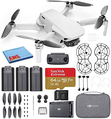 DJI Mavic Mini Fly More Combo Ultralight Foldable 3-Axis GPS Quadcopter Drone with 2.7K FHD Camera - 30 Min. Flight...